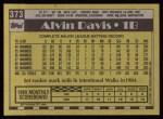 1990 Topps #373  Alvin Davis  Back Thumbnail