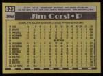 1990 Topps #623  Jim Corsi  Back Thumbnail