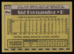 1990 Topps #480  Sid Fernandez  Back Thumbnail