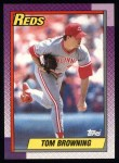 1990 Topps #418  Tom Browning  Front Thumbnail