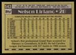 1990 Topps #543  Nelson Liriano  Back Thumbnail
