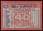 1991 Topps #199  Mike Hartley  Back Thumbnail