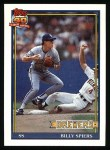 1991 Topps #284  Billy Spiers  Front Thumbnail