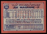 1991 Topps #185  Joe Magrane  Back Thumbnail