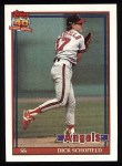 1991 Topps #736  Dick Schofield  Front Thumbnail