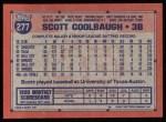 1991 Topps #277  Scott Coolbaugh  Back Thumbnail