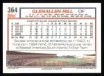 1992 Topps #364  Glenallen Hill  Back Thumbnail