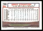 1992 Topps #788  Mike Stanton  Back Thumbnail