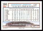 1992 Topps #168  Dwight Smith  Back Thumbnail