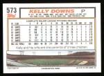 1992 Topps #573  Kelly Downs  Back Thumbnail