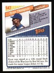 1993 Topps #547  Ryan Thompson  Back Thumbnail