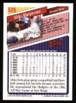 1993 Topps #526  Mike Sharperson  Back Thumbnail
