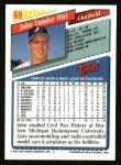 1993 Topps #69  John Vander Wal  Back Thumbnail