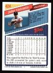 1993 Topps #424  John Valentin  Back Thumbnail