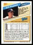 1993 Topps #261  Bill Wegman  Back Thumbnail
