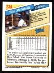 1993 Topps #234  Tim McIntosh  Back Thumbnail
