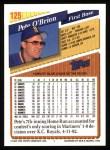 1993 Topps #125  Pete O'Brien  Back Thumbnail