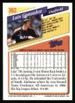 1993 Topps #362  Luis Gonzalez  Back Thumbnail
