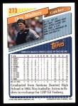 1993 Topps #273  Dan Walters  Back Thumbnail