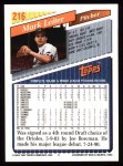 1993 Topps #216  Mark Leiter  Back Thumbnail