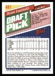 1993 Topps #481  Ryan Luzinski  Back Thumbnail