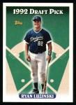 1993 Topps #481  Ryan Luzinski  Front Thumbnail