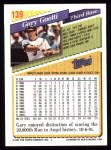 1993 Topps #139  Gary Gaetti  Back Thumbnail