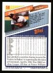 1993 Topps #58  Jose Melendez  Back Thumbnail