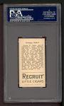 1912 T207  George Kahler    Back Thumbnail