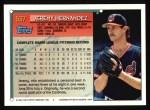 1994 Topps #537  Jeremy Hernandez  Back Thumbnail
