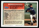 1994 Topps #443  John Cummings  Back Thumbnail