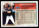 1994 Topps #414  Bill Pecota  Back Thumbnail
