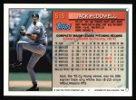 1994 Topps #515  Jack McDowell  Back Thumbnail