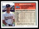 1994 Topps #519  Alex Diaz  Back Thumbnail