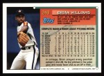 1994 Topps #249  Brian Williams  Back Thumbnail