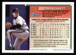 1994 Topps #213  John Burkett  Back Thumbnail
