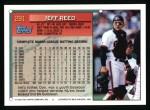 1994 Topps #291  Jeff Reed  Back Thumbnail