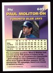 1994 Topps #609   -  Paul Molitor Measures of Greatness Back Thumbnail