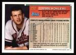 1994 Topps #232  Mark Wohlers  Back Thumbnail