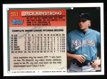 1994 Topps #551  Jack Armstrong  Back Thumbnail