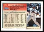 1994 Topps #731  Chris Gwynn  Back Thumbnail
