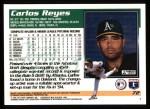 1995 Topps #72  Carlos Reyes  Back Thumbnail