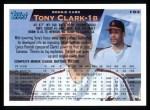 1995 Topps #153  Tony Clark  Back Thumbnail