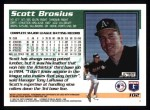 1995 Topps #102  Scott Brosius  Back Thumbnail