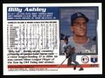 1995 Topps #489  Billy Ashley  Back Thumbnail