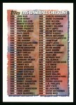 1995 Topps #660   Checklist Front Thumbnail