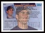 1995 Topps #221  Andrew Lorraine  Back Thumbnail