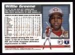 1995 Topps #467  Willie Greene  Back Thumbnail