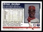 1995 Topps #62  Brian Jordan  Back Thumbnail