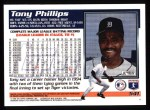 1995 Topps #541  Tony Phillips  Back Thumbnail